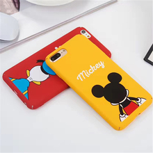 Funny Cute Mickey Donald Duck Dog Cartoon Cases For iPhone 6S Case figure Cartoon Frosted Hard Phone Cases For iPhone 7 6 6S Pl