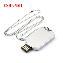 Retail Necklace Military Dog Tag Shape USB Flash Drive Pendrive Memory Stick Disk Pen Drive 4GB 8GB 16GB 32GB Super Quality