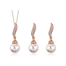 danbihuabi Brand Imitation Pearls Necklaces Earrings Beads Bridal Pendent Crystal Jewelry Set Statement Jewellery Sets For Women(China)