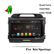 4G 1024*600 Android 5.1. Car DVD Player KIA Sportage R 2010 2011 2012 PC Head Unit GPS Navigation 2 Din Stereo Radio