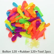 2017 120pcs a set Magic Quick Fill In Water Balloons Refill rubbers Tool Water Kids Summer Outdoor Fun toy(China)