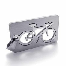 Fashion jewelry Quadrate Bicycle Pendant 316L Stainless Steel Necklaces Mens Necklaces Couple Necklaces 05537(China)