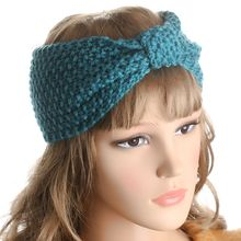 Fashion Women Crochet Bow Headband  Turban Knitted Head wrap Hair Band Ear Warmer