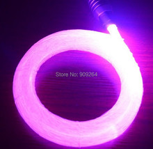 Free shipping 0.75mm PMMA plastic fiber optics 200pcs 2Meters for all kind led light engine source, good lighting leading