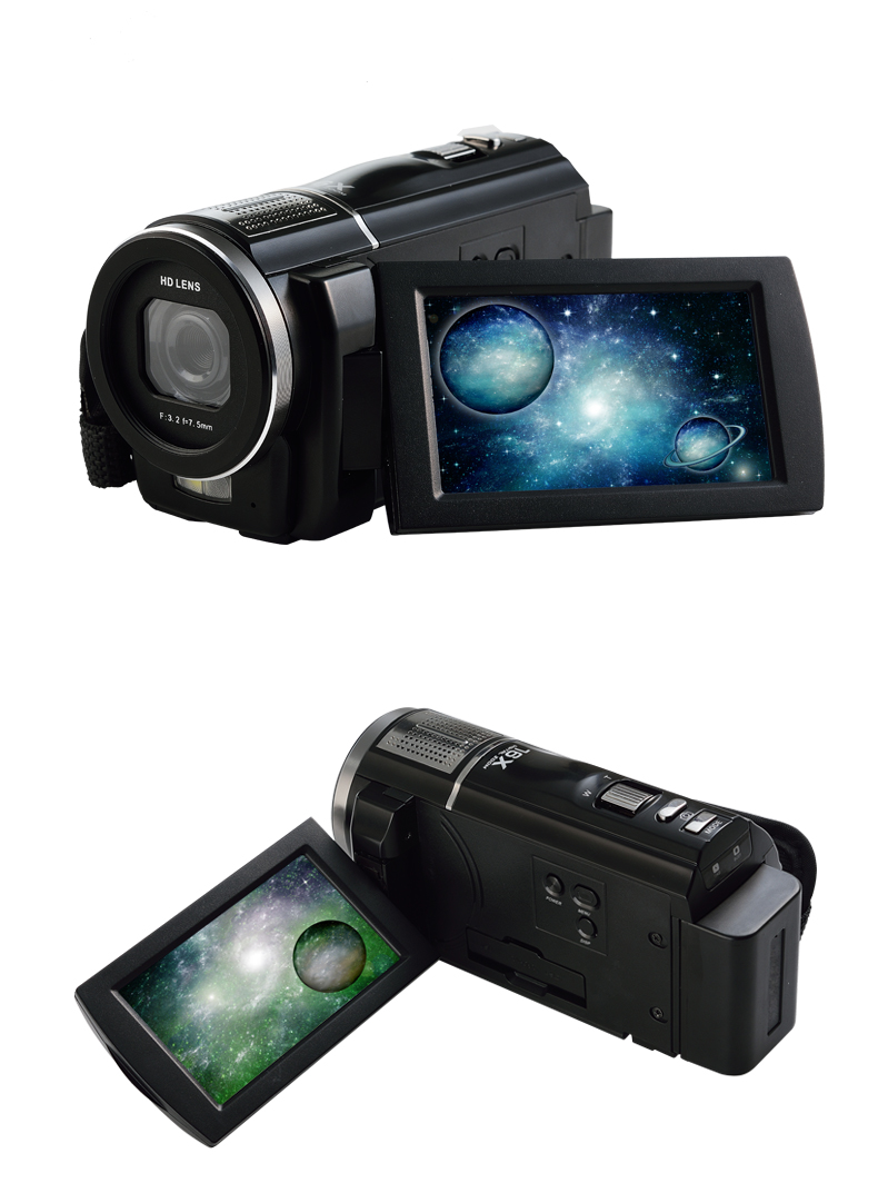 New Professional Super 1080P Full HD  5MP CMOS sensor, Max 24MP Digital Video Camera Camcorder HDV with Rotatable Touch Screen <br><br>Aliexpress