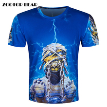 Heavy metal band 3D T-Shirt Men Funny T Shirts Psychedelic Print Tops Hip Hop Camisa Luxury Short Sleeve Fashion Tee ZOOTOP BEAR