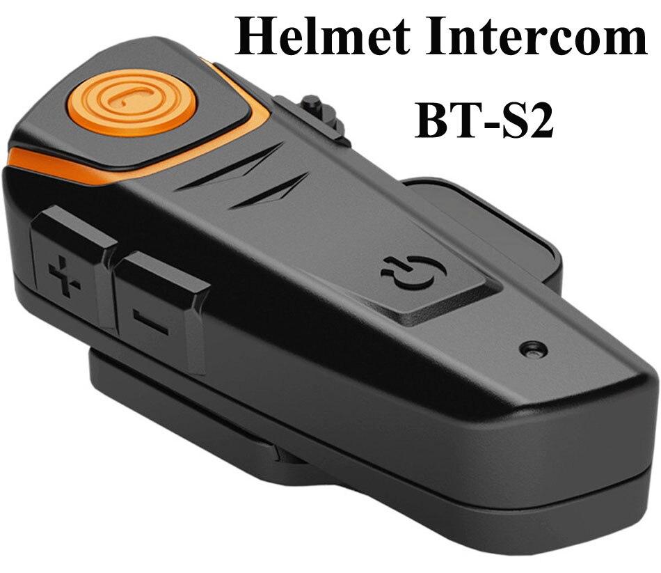 2016 New Motorcycle Intercom BT 2 Riders Intercom Bluetooth Wireless Interphone Helmet Headset with FM Function 100% Waterproof<br><br>Aliexpress