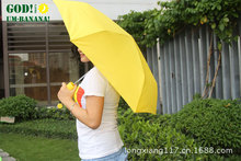 Novelty Items Fashion fruit banana umbrellas 3 folding umbrella the sun rain umbrellas for women(China)