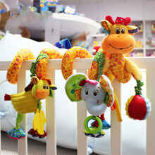 New Arrival Baby Toys Cute Musical Giraffe Multifunctional Crib Hanging Bed Bell Educational Toys Rattles for Kids(China)