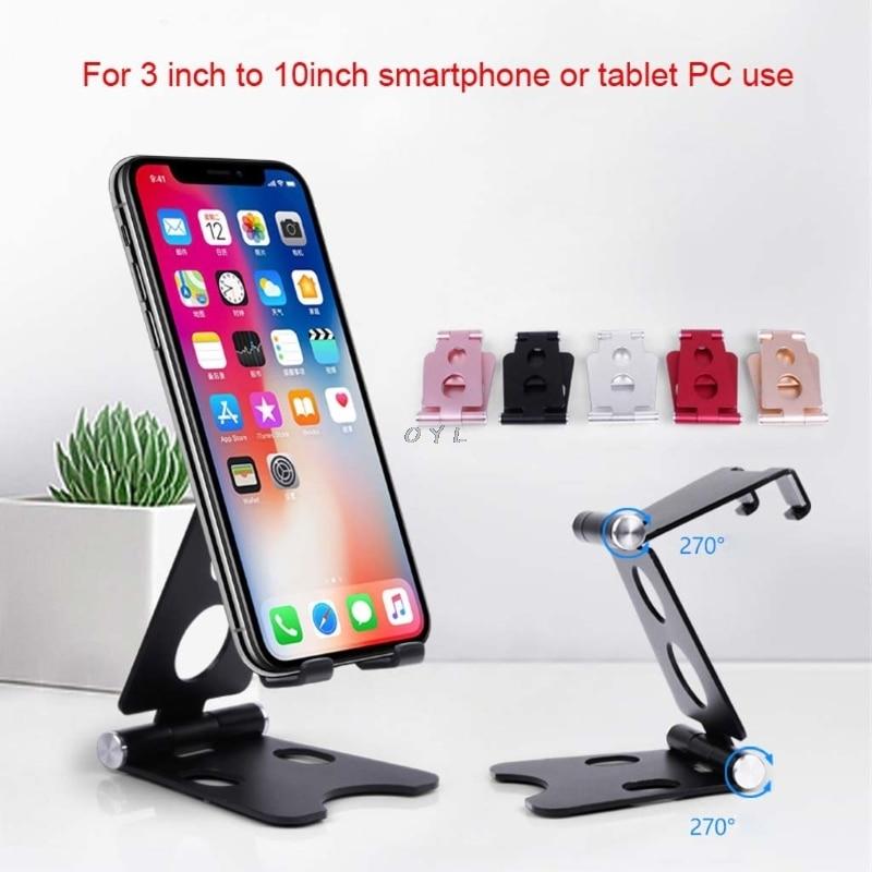 Silver Aluminum iPhone iPad Smartphone Tripod Folding Stand Tablet