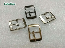 40pcs/lot metal 14mm shoe buckle pin alloy belt buckle high polished silver/black/gold free shipping 2015061210(China)