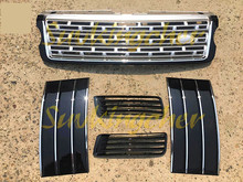 5Pcs side grille mesh grill for Land Rover Range Rover Autobiography 2013 2014 2015 2016 2017 front grille side vent