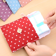 Hot Salecotton Napkin Bag Health Bag Cute Cartoon Cloth Sanitary Napkins Sanitary Pad Storage Bag 11.5X11.5Cm(China)