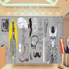 Free shipping Europe the United States trend men clothing store background wall mural mall bedroom wallpaper