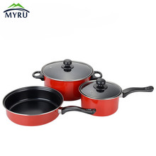 Stainless steel pot three pieces cookware sets Milk pot Saucepan Cooking Tools kitchen suppliers