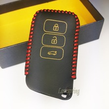 3 buttons Leather Smart Car key cover Key Wallet For 2013 Lexus ES300H 350 250 GS250 350 450 Key Wallet Lexus Key Case shell(China)