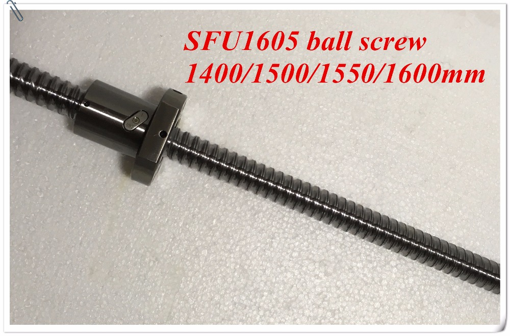 1pcs Ball Screw SFU1605  Rolled Ballscrew With 1pcs Single Flange Ball Nut for CNC No End Machined Brand New<br>