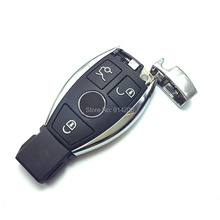 Replacement Remote Control Key Cover for Mercedes Benz E Series Smart Key blank without ship inside smart key shell with logo