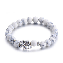 Buy Classic Natural Stone Buddha Charm Bracelet Women Chic Silver Color Elephant Beads Bracelets Fashion Men Jewelry for $1.36 in AliExpress store