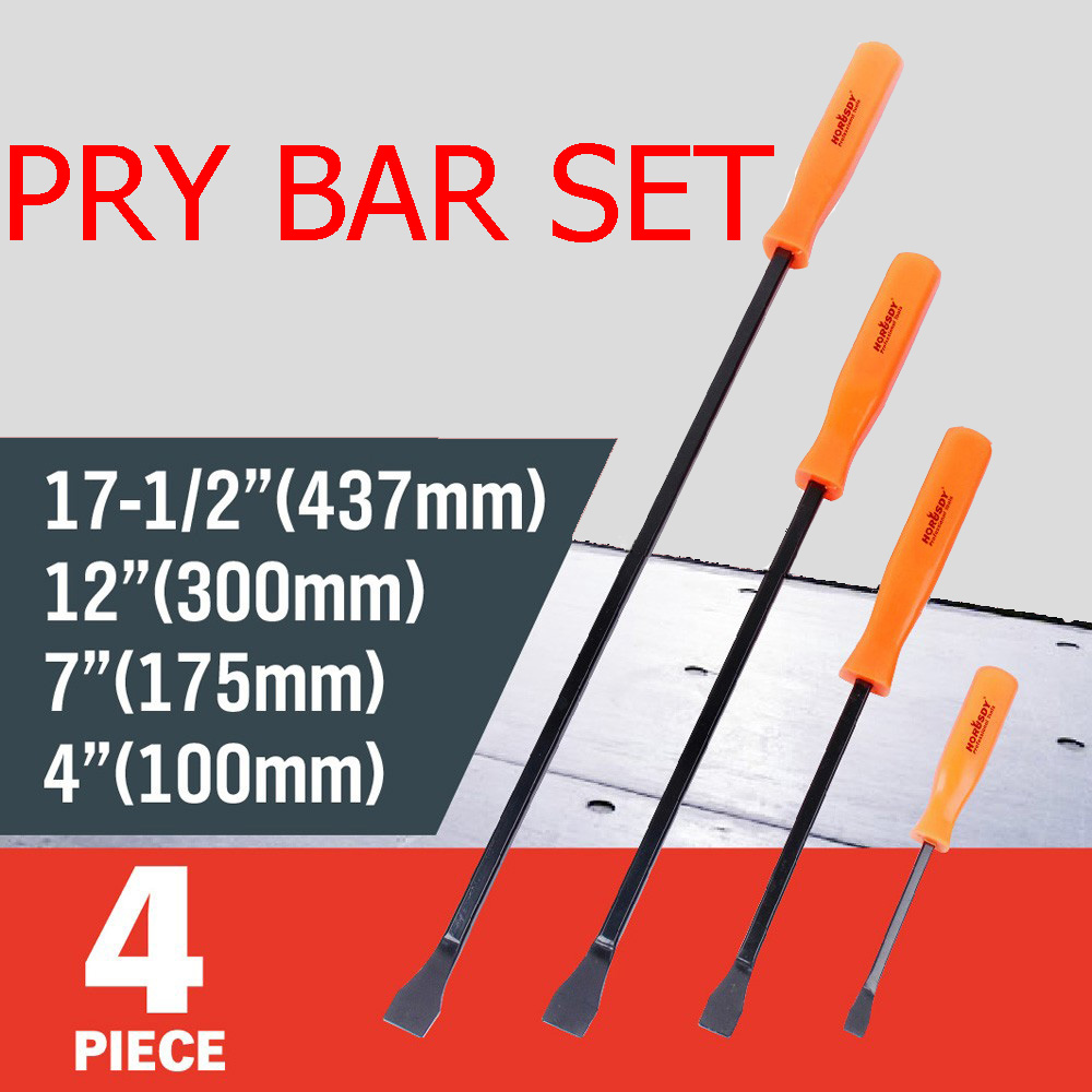 4 Pieces of Pry Bar Set Forged PVC Square Handle Open Metal Pound YAD1010<br><br>Aliexpress