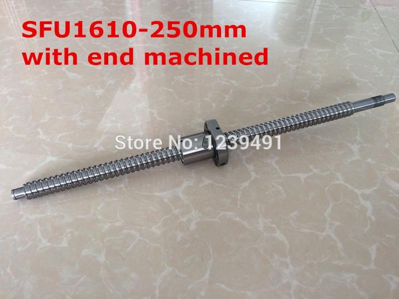 SFU1610-  250mm ballscrew with  single ball nut + end machining<br>
