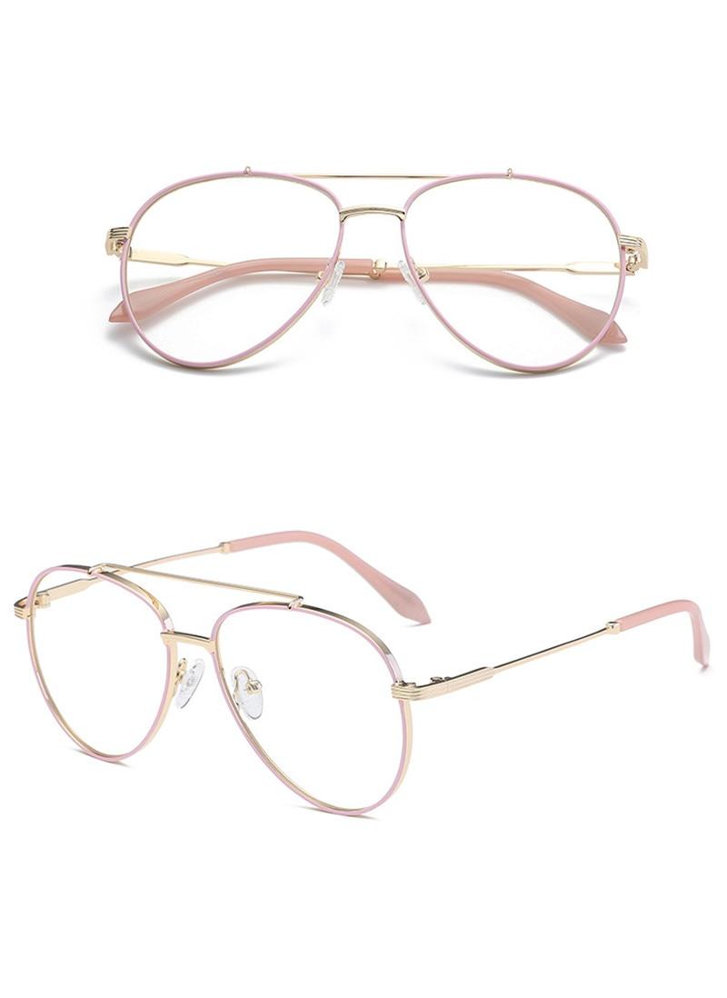 cf0d1e9dd8 Cubojue Women Glasses Pilot Aviation Eyeglasses Frame Men Woman ...