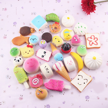 10pcs Donuts Cake Bread Ice Cream Toys Pendants Cell Phone Keys Chain Pendant