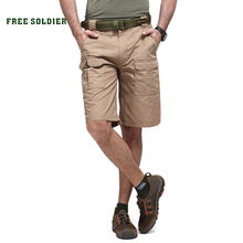 FREE SOLDIER outdoor Men's tactical camping hiking fishing shorts sports men's suit Overalls Scratch-resistant shorts sale(China)