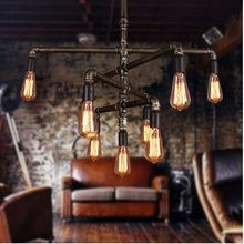 Retro industrial water pipe lamp cafe for bar taiwan restaurant creative water tube light