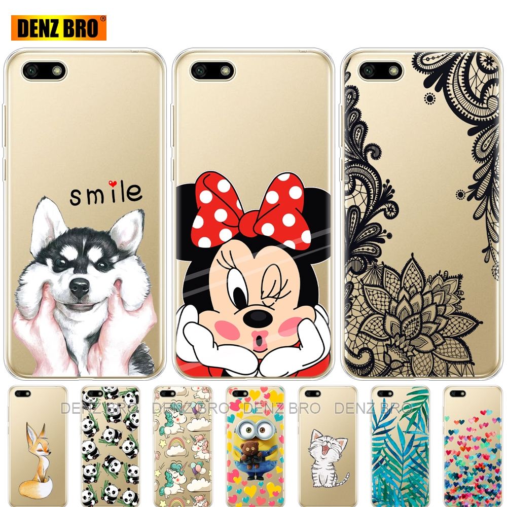 "silicone phone case For Huawei Honor 7S 5.45"" Cases Huawei 7S Soft TPU Various Coque Honor 7S 7 S Case Fundas For Huawei Honor7S(China)"