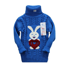 Cemigo Girls Sweater Kids Turtleneck Sweater Girl Rabbit Pullovers Girl Knitwear IG701