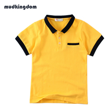 Mudkingdom Boys Polo Shirt 100% Cotton Kids Clothes Camisa Polo Menino Candy Color Summer Tee Tops Kids Jongens Boy Blouse(China)