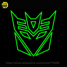 Neon Sign Transform Decepti Neon Light Sign Handmade Neon Bulb Glass Tube Advertise Sign Iconic Lamps Decoration Game Room 24x24