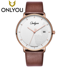 ONLYOU Lover Watches Women Fashion Watch 2017 Best Express Love Gift Men Maple Leaves Casual Quartz Clock Ladies Wristwatch(China)