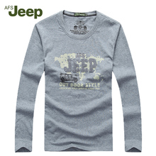 2016 new Men's AFS JEEP t-shirt Leisure men spring Long sleeve Print O-Neck Casual Tops wear 5 colors T shirts 55(China)