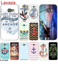 Lavaza Vintage Nautical Anchor White on Brown Wood Grain Hard Case for Galaxy A3 A5 J5 (2015/2016/2017) & J3 J5 Prime A7 J7(China)
