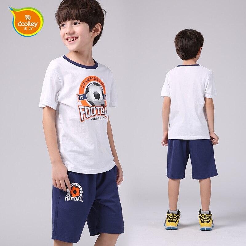 DOOLLEY Hot Sale Boy Costume Sets Kids Summer Cotton Tracksuit Short Sleeve T-shirt + Shorts Suit Size 110-170 cm<br><br>Aliexpress