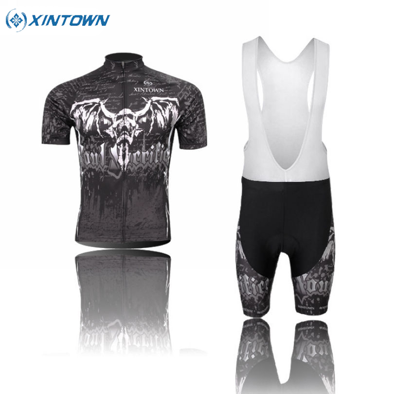 XINTOWN Team Mens Ropa Ciclismo Sportswear Cycling Jersey &amp; Bib Short Pants Sets Road Bike Bicycle Clothing Suit Skeleton<br><br>Aliexpress