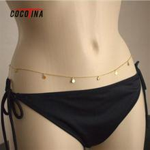 Sexy Women Bikini Belly Chains Fashionable Sequins Female Body Jewelry Waist Chain Fashion Body Chain For Women COCOTINA D0932