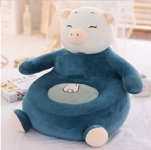 Dorimytrader New Coming 55cm X 50cm Plush Soft Stuffed Giant Pig Kid Sofa Tatami Nice Gift For Babies Free Shipping DY60509(China)
