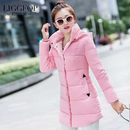 New Arrival Fashion Korean Slim Fresh Long Sleeves Hooded Collar Cotton Wadded Mid-Long Overcoat Femal Lady Women Coat H5813Одежда и ак�е��уары<br><br><br>Aliexpress