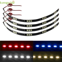 New 4x 30cm 5050 15 LED Car Trucks Moto Grill Flexible Waterproof Light Strips car accessories