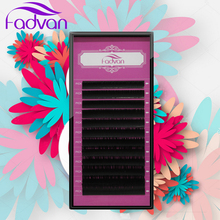 False Eyelashes Extension All Size 1 Eyelash Extension Tray J B C D Curl Fadvan Natural Mink Eye Lashes Eyelashes For Building(China)