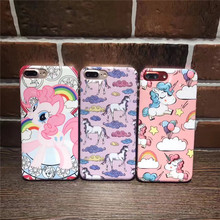 2017 Fashion Cute Swift horse Unicorn Cases For iPhone 6 6S 7/7Plus Smooth Portuguese Design Soft Silicone Case Originality Capa(China)