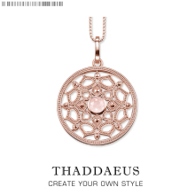 Pink Lotus Large Necklace,2017 Brand New Ts Chain Fashion Jewelry Thomas Style Rebel Bijoux Gift For Women Friend