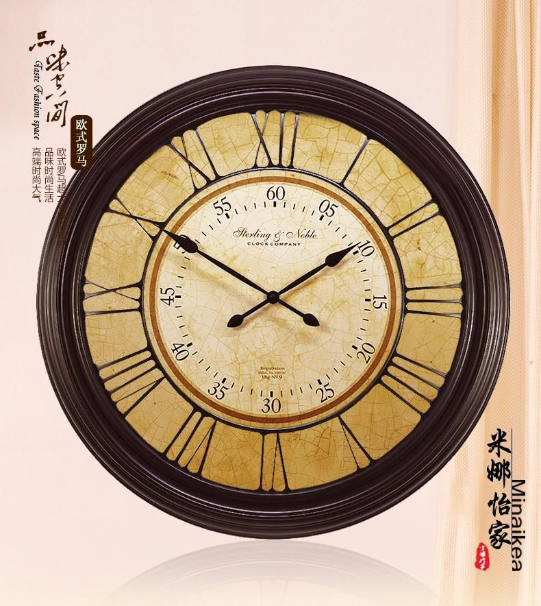 Ultralarge antique fashion wall clock mute modern