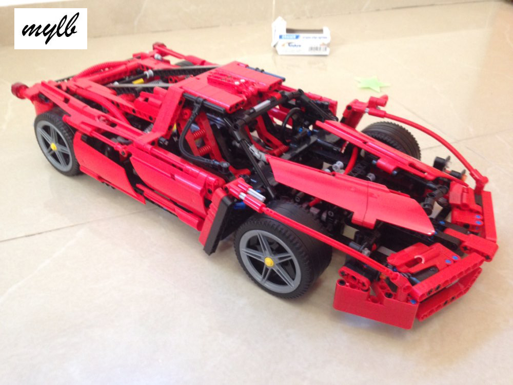 mylb New Technic ENZO 1:10 Supercar Car Model Building Block Educational Construction Bricks compatible with DIY<br>