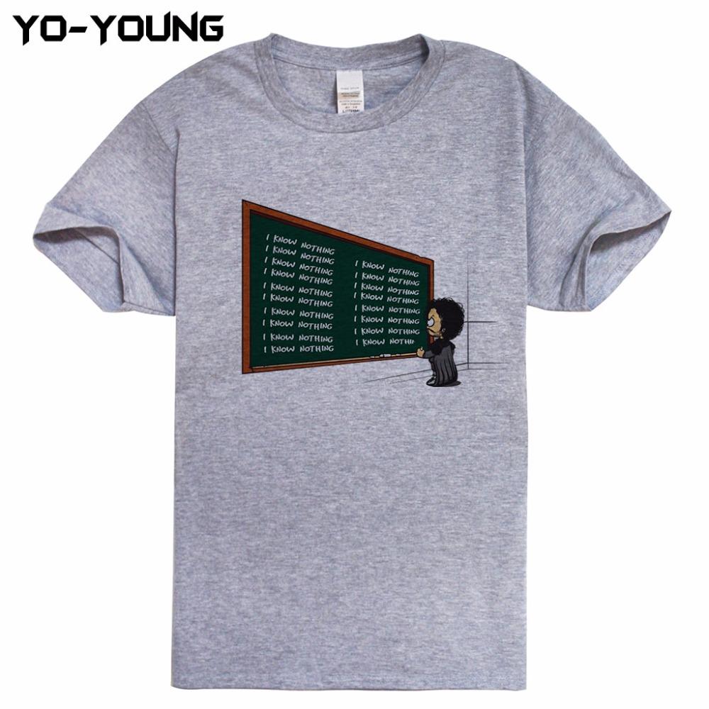 HTB1iroHRXXXXXXxaXXXq6xXFXXXL - Game Of Thrones Hodor Jon Snow Men T Shirts Funny Design T-shirts For Men Digital Printed 100% 180g Combed Cotton Customized