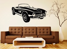 Retro Classic Vintage Convertible Car Decal Wall Vinyl Sticker Home Interior Removable Bedroom Decor 57 x 105cm