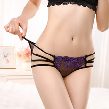 Buy Women's Summer Sexy Lace Solid Lingerie Knickers G-string Thongs Panties Underwear Briefs